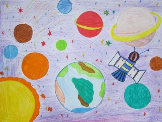 о подготовительная группа космосе рисунки