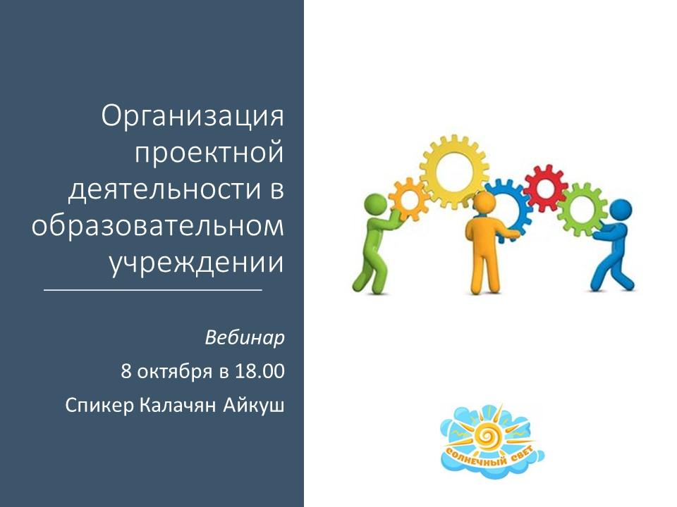 Организация проектной деятельности в образовательном учреждении